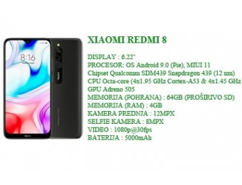 XIAOMI REDMI 8 4+64GB