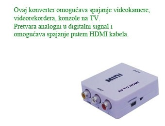 Cinch na hdmi konverter